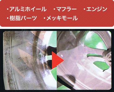 汚れやすい、交換が高価な車の各種箇所・エンジンにも施工可能。